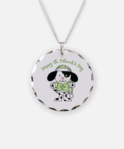 Happy St Pats Puppy Necklace