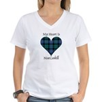 Heart - MacCaskill Women's V-Neck T-Shirt