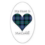 Heart - MacCaskill Sticker (Oval 10 pk)