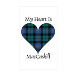 Heart - MacCaskill Sticker (Rectangle 50 pk)