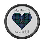 Heart - MacCaskill Large Wall Clock