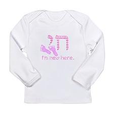 Chai, I'm new here! Long Sleeve Infant T-Shirt