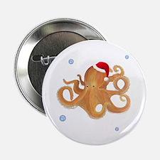 """Christmas - Octopus 2.25"""" Button"""
