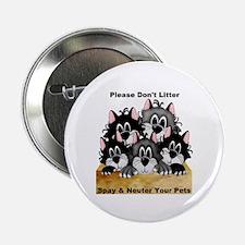 """Spay Neuter Litter 2.25"""" Button (10 pack)"""