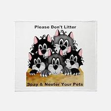 Spay Neuter Litter Throw Blanket