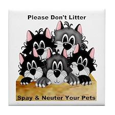 Spay Neuter Litter Tile Coaster