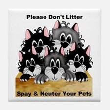 Spay Neuter Litter Tile Coaster