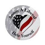Annoy A Liberal Ornament (Round)
