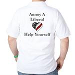 Annoy A Liberal Golf Shirt