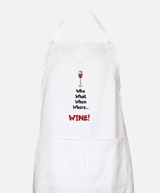 """Who What When Where Wine"" Apron"