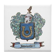 Janowski Coat of Arms Tile Coaster