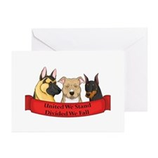 United We Stand - 3 Breeds Greeting Cards (Package