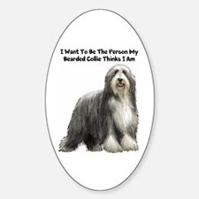 Bearded Collie Sticker (Oval)