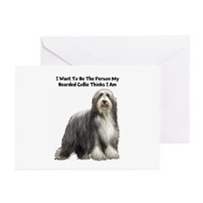 Bearded Collie Greeting Cards (Pk of 20)
