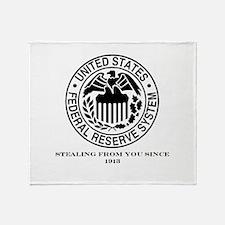 Federal Reserve Throw Blanket