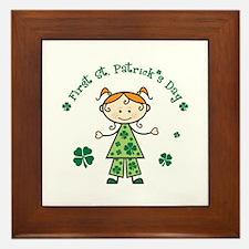 Girl 1st St Patricks Framed Tile