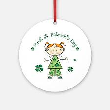 Girl 1st St Patricks Ornament (Round)