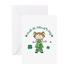 Girl 1st St Patricks Greeting Card