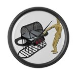 Cleaning New Barbeque Large Wall Clock