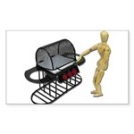 Cleaning New Barbeque Sticker (Rectangle 10 pk)