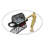 Cleaning New Barbeque Sticker (Oval 50 pk)