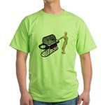 Cleaning New Barbeque Green T-Shirt