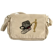 Cleaning New Barbeque Messenger Bag