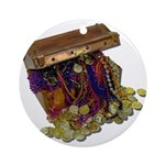 Colorful Pirate Treasure Gold Ornament (Round)