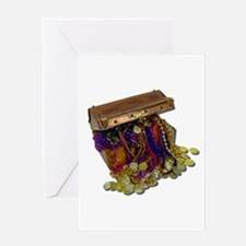 Colorful Pirate Treasure Gold Greeting Card