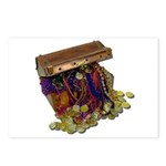 Colorful Pirate Treasure Gold Postcards (Package o