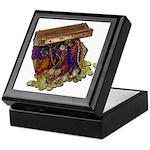 Colorful Pirate Treasure Gold Keepsake Box