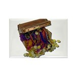 Colorful Pirate Treasure Gold Rectangle Magnet (10