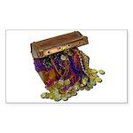 Colorful Pirate Treasure Gold Sticker (Rectangle 5