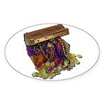 Colorful Pirate Treasure Gold Sticker (Oval 50 pk)