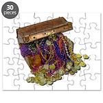 Colorful Pirate Treasure Gold Puzzle
