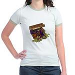 Colorful Pirate Treasure Gold Jr. Ringer T-Shirt