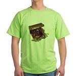 Colorful Pirate Treasure Gold Green T-Shirt