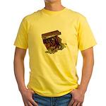 Colorful Pirate Treasure Gold Yellow T-Shirt