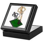 Digging Shovel in Grass Keepsake Box