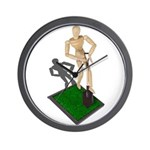 Digging Shovel in Grass Wall Clock