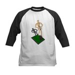 Digging Shovel in Grass Kids Baseball Jersey
