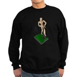 Digging Shovel in Grass Sweatshirt (dark)