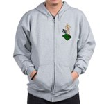 Digging Shovel in Grass Zip Hoodie