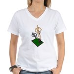 Digging Shovel in Grass Women's V-Neck T-Shirt