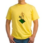 Digging Shovel in Grass Yellow T-Shirt