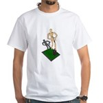 Digging Shovel in Grass White T-Shirt