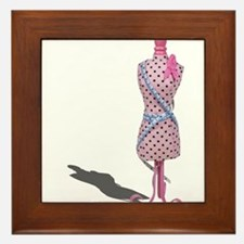 Dress Form Measuring Tape Framed Tile