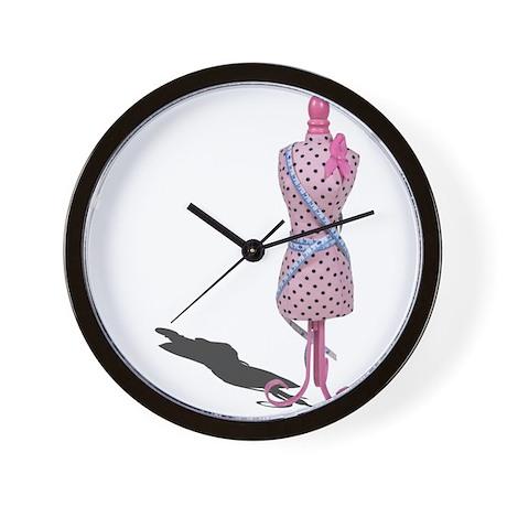 Dress Form Measuring Tape Wall Clock