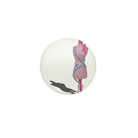 Dress Form Measuring Tape Mini Button (10 pack)
