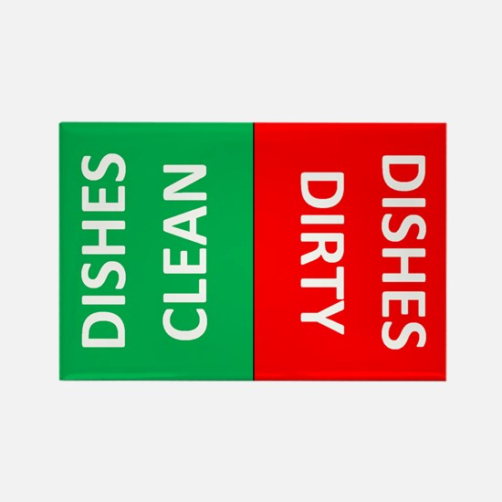 Dishes Dirty or Clean Rectangle Magnet
